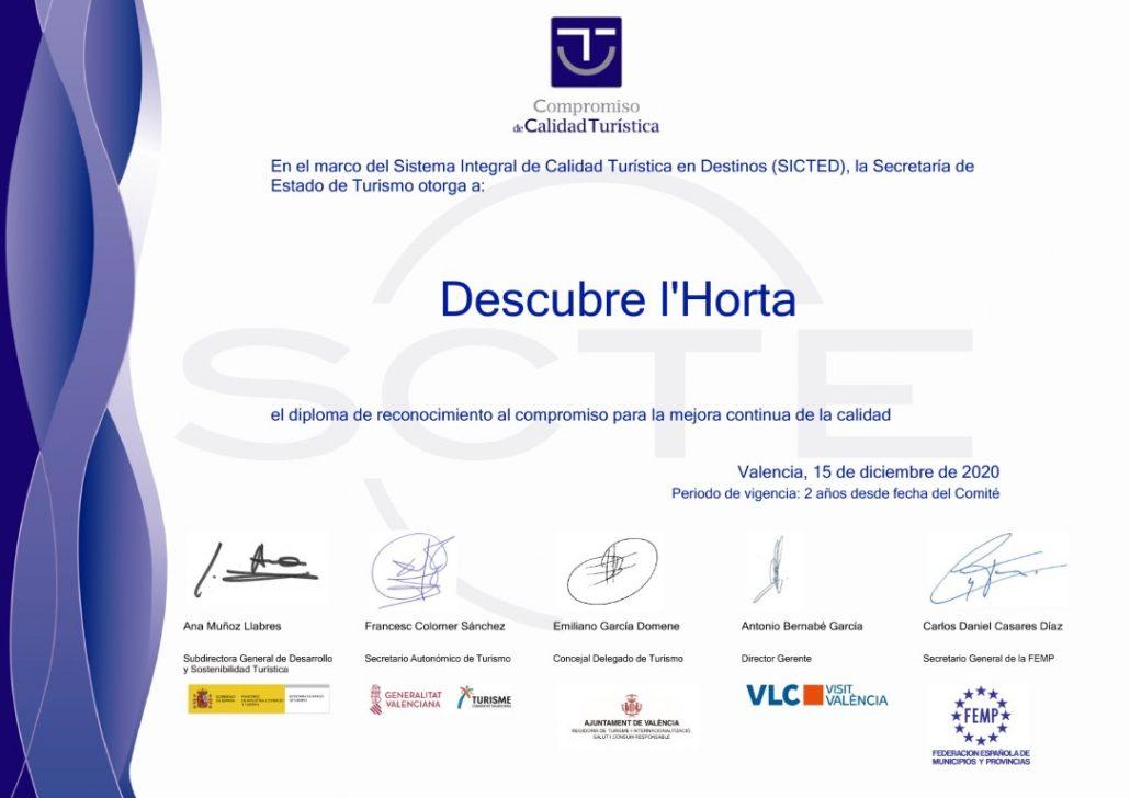 Diploma SICTED 2022_Descubre l'Horta